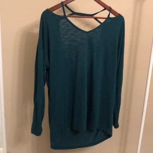 Xersion Strappy Open Back Tunic - Size Large